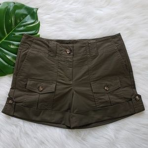 Ann Taylor, Army Green Cargo Shorts, 6